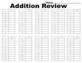 Addition Review Ladders