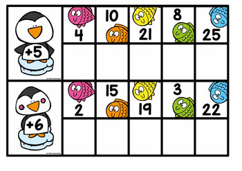 Addition Review {Penguins Fishing}