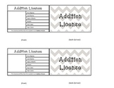Addition Reward Licenses