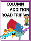 "Road Trip ""Column Addition"" (Word Problem Task Cards)"