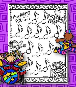 Addition Rocks! - Addition Practice Sheet