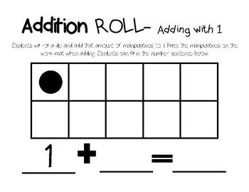 Addition Roll (Math Game)
