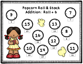 Addition:  Roll & Stack Whole Class Game