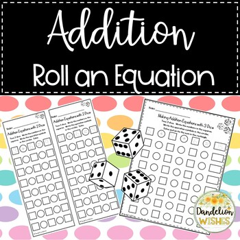 Addition Roll an Equation Dice Activity
