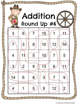 Addition Round Up: A Math Game to Reinforce Addition Facts & Problem Solving
