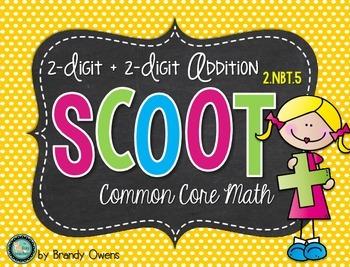 Addition SCOOT! Task Cards: 2-Digit plus 2-Digit 2.NBT.5