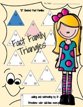 Kindergarten Math: Addition & Subtraction (0-12 add/sub families)