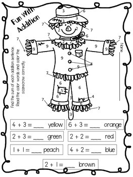 Addition Scarecrow Freebie