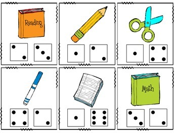 Addition - School Supply Themed Math Around the Room