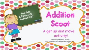 Addition Task Cards/ Scoot