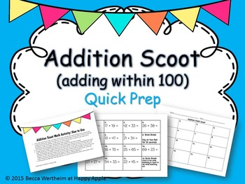 Addition Scoot (Adding Within 100)