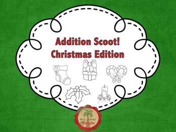 Addition Scoot - Christmas Edition