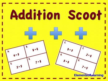Addition Scoot Game/ Task Cards