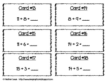 Addition Scoot Sums to 20