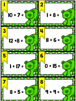 Addition Scoot: Sums to 20