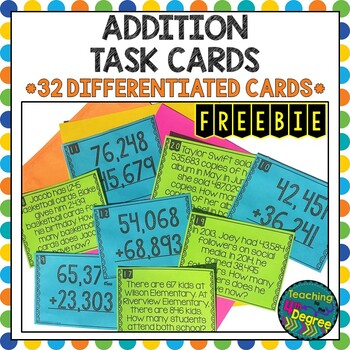 Addition Scoot Task Cards