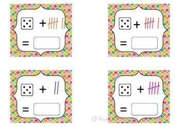Addition Scoot- dice + tally