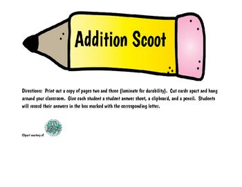 Addition Scoot or Scavenger Hunt