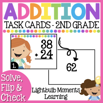 #betterthanchocolate Addition Scoot or Task Cards - Solve,