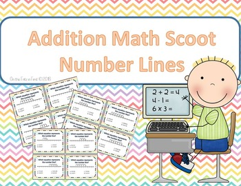 Addition Scoot (with number lines)!