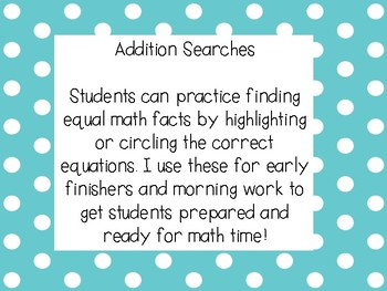 Addition Searches 10-15