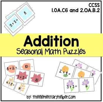 Addition Seasonal Math Puzzles