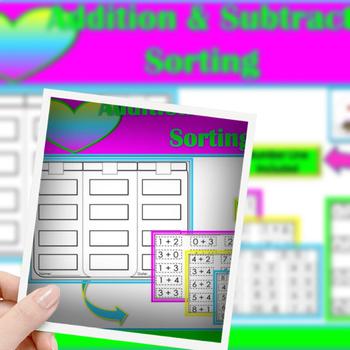 Math Sorts (Addition & Subtraction Sentence Box)