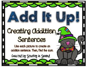 Addition Sentence Center (Halloween Edition)