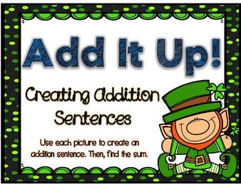 Addition Sentence Center (St. Patrick's Day Edition)