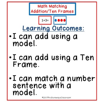 Addition Sentence / Ten Frame Match