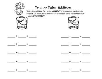 Addition Sentences