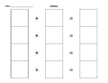 Addition Sentence Practice Templates
