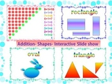 Addition to 10 Shapes Interactive PowerPoint Lesson End of the Year Activities