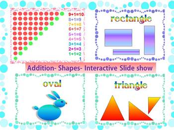 Addition to 10 - Shapes - Interactive Slide show - Back to