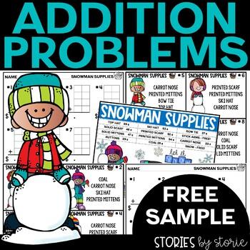 Addition Shopping Problems Freebie 2.NBT.B.6