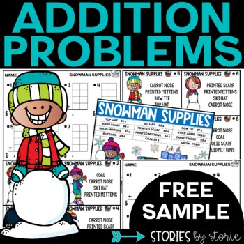 Addition Shopping Problems Freebie
