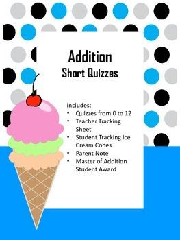 "Addition ""Short"" Quiz"