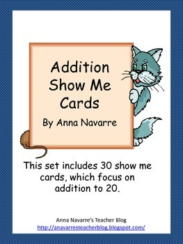 Addition Show Me Cards