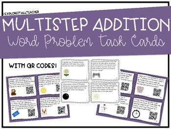 Addition Single- and Multi-Step Word Problem Task Cards
