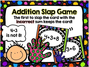 Addition Slap Card Game