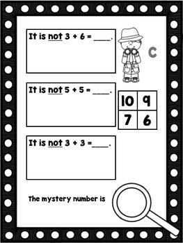 Addition Sleuth - Addition Practice