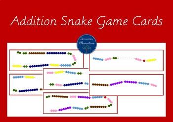 Addition Snake Game Cards