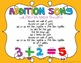 Addition Song and Gesture FREEBIE