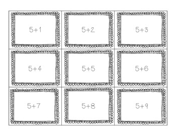 Addition Sort and Activity Sheet