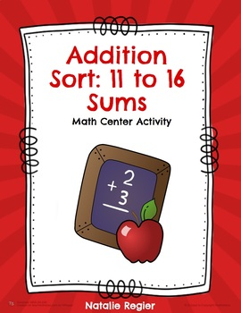 Addition Sort: 11 to 16 Sums