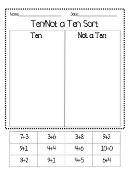 Addition Sorting By Tens