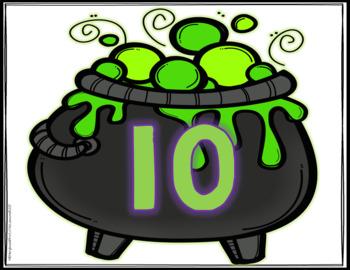 Addition Sorts 1-10: Halloween Cauldrons And Eyeballs