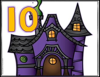 Addition Sorts 1-10: Halloween Haunted Houses And Ghosts