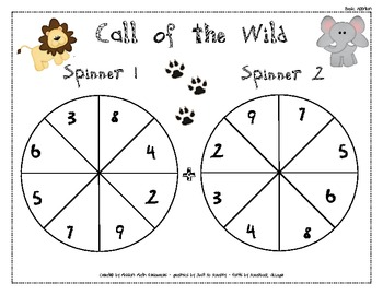 Addition Spinners - Differentiated