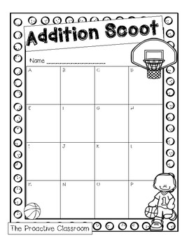Addition Sports Scoot!
